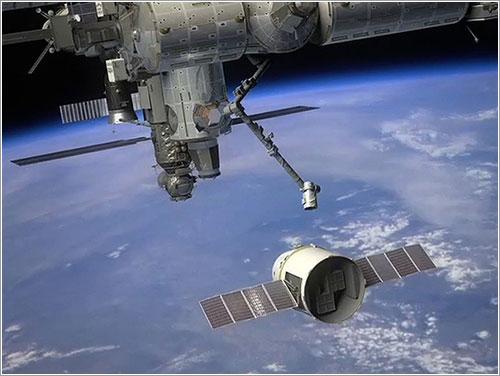 La Dragon C2 en las proximidades de la ISS - SpaceX