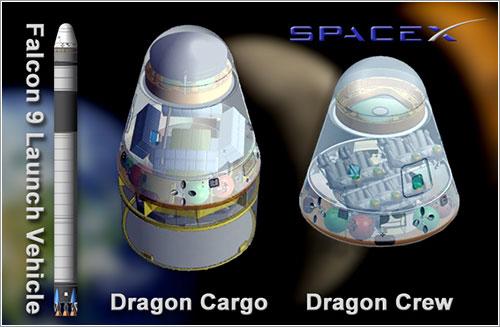 Versiones de carga y tripuladas de la cápsula Dragon - NASA