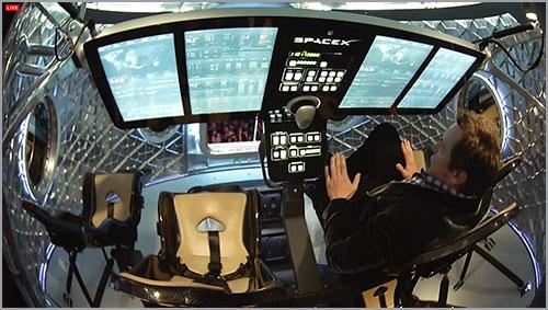 Interior de la Dragon V2