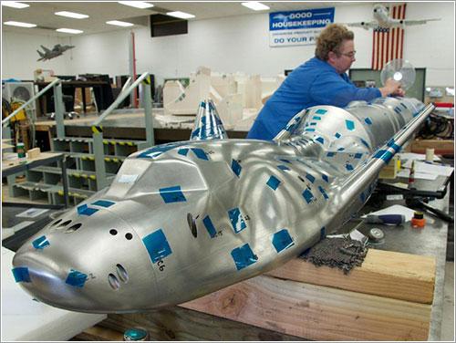 Modelo de la Drean Chaser para el túnel de viento - NASA EDGE/Ron Beard