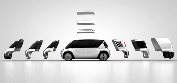 EDIT Self Driving Car modular exploded OSVehicle