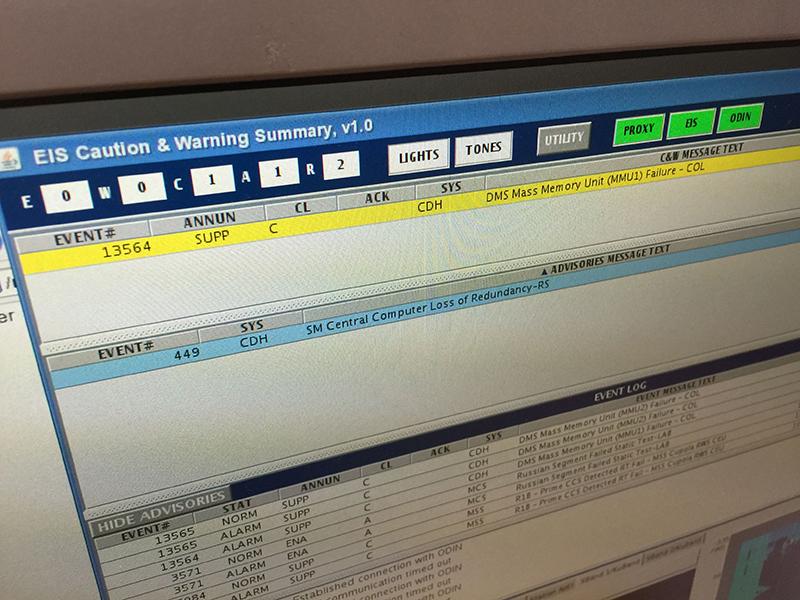 Pantalla del sistema de gestión de alertas