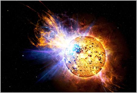 Erupción EV Lacertae - Casey Reed/NASA
