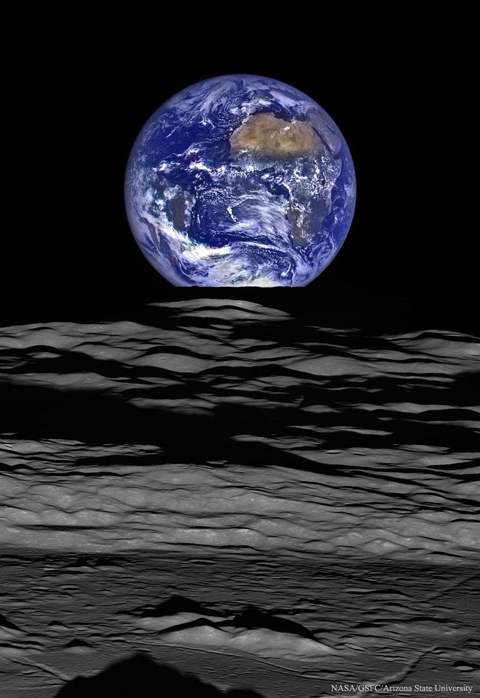 Earthrise 2015 por la Lunar Reconnaissance Orbiter