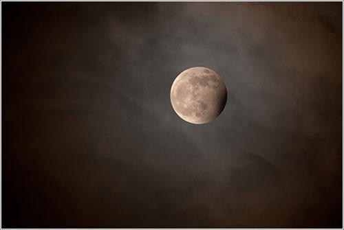 Eclipse de Luna azul por Jean Paul Roux