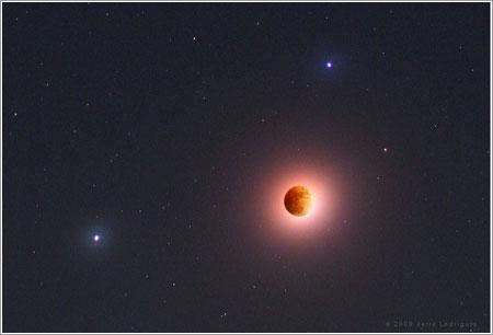 Luz lunar eclipsada por Jerry Lodriguss