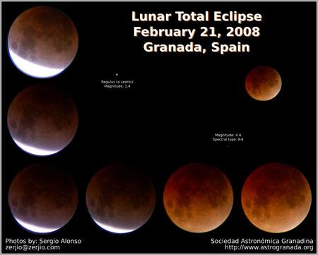 Eclipse de Luna 2008 por sergio Alonso