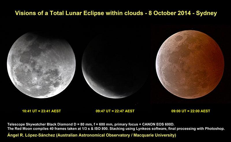 Eclipse lunar de octubre de 2014 por El Lobo Rayado