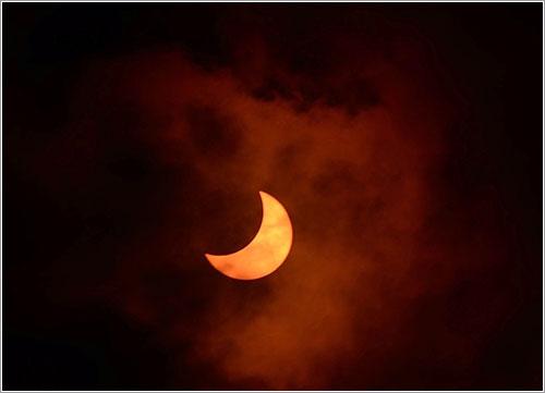 El eclipse por Jay Pasachoff