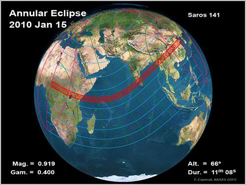 Eclipse solar del 15 de enero de 2010 - NASA