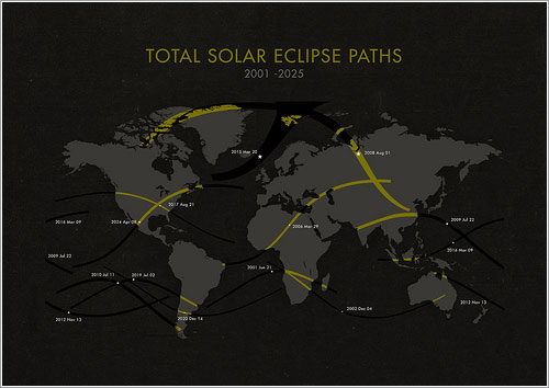 Total Solar Eclipse Paths por Michael Paukner