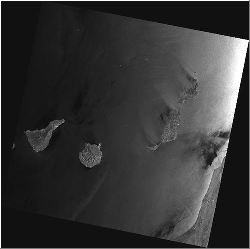 Las Canarias vistas por en Envisat - ESA/Edisoft