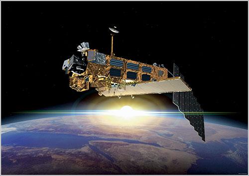 Impresión artística del Envisat en órbita - ESA
