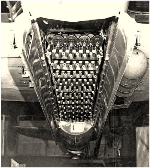 Erizo de fuego en la bodega de un Tu-2