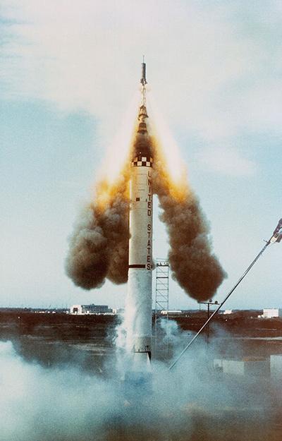 Escape rocket of Mercury Redstone 1