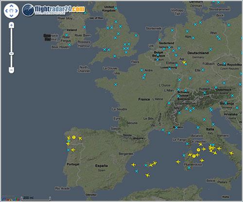 Espacio aéreo europeo 18 de abril