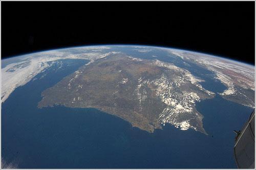 España desde la Estación Espacial Internacional, abril 2013