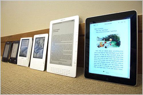 Distintos lectores de libros electrónicos
