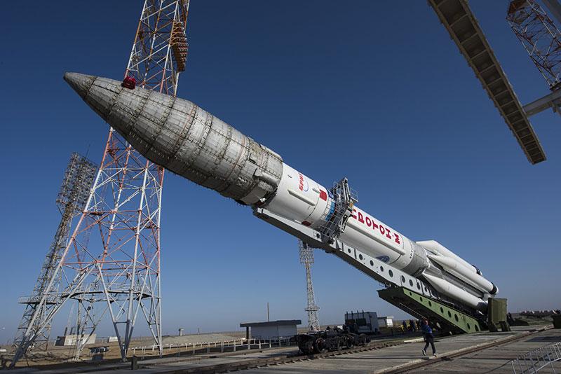 Erección del cohete