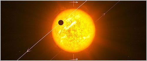 Planeta extrasolar retrógrado - ESO