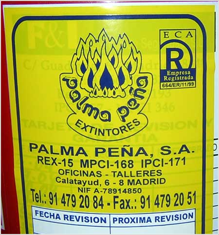 Extintor Palma Peña