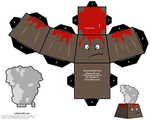 Eyjafjallajökull recortable de Cubeecraft