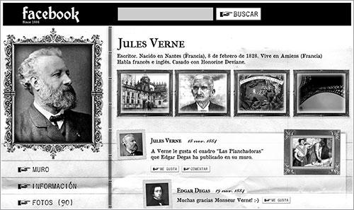 El Facebook de Julio Verne