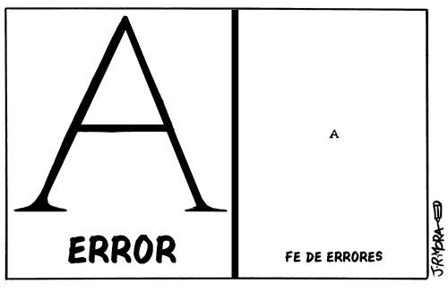 Fe de errores por J. R. Mora