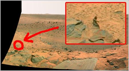 Supuesto hombre en Marte