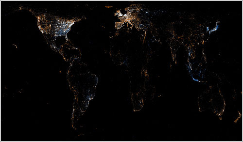 Uso de Flickr y Twitter en el mundo - Eric Fischer