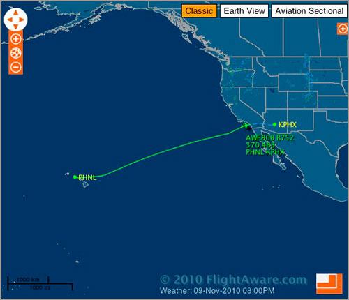 US Airways 808 en FlighAware