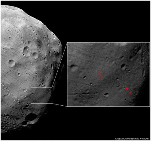 Lugar de aterrizaje de la Phobos-Grunt - ESA/DLR/FU Berlin (G. Neukum)