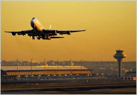 B747 en Madrid