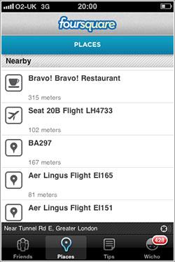Sitios raros en Foursquare