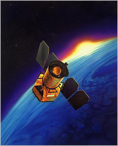 Impresión artística del GALEX en órbita