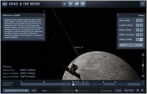 GRAIL & The Moon en Eyes on the Solar System