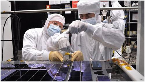 Los CCD de Gaia durante su instalación