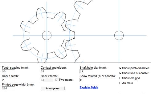 Generador de plantillas para hacer ruedas dentadas | Microsiervos ...