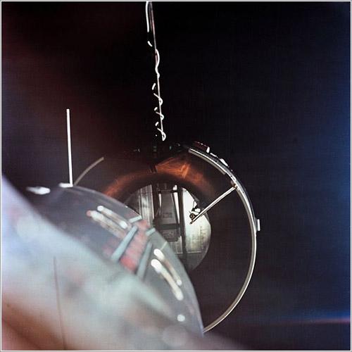 La Gemini 8 aproximándose a la Agena