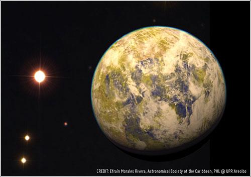 Impresión artística de Gliese 832 c
