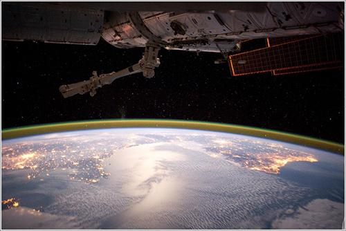 El Golfo de Vizcaya desde la ISS