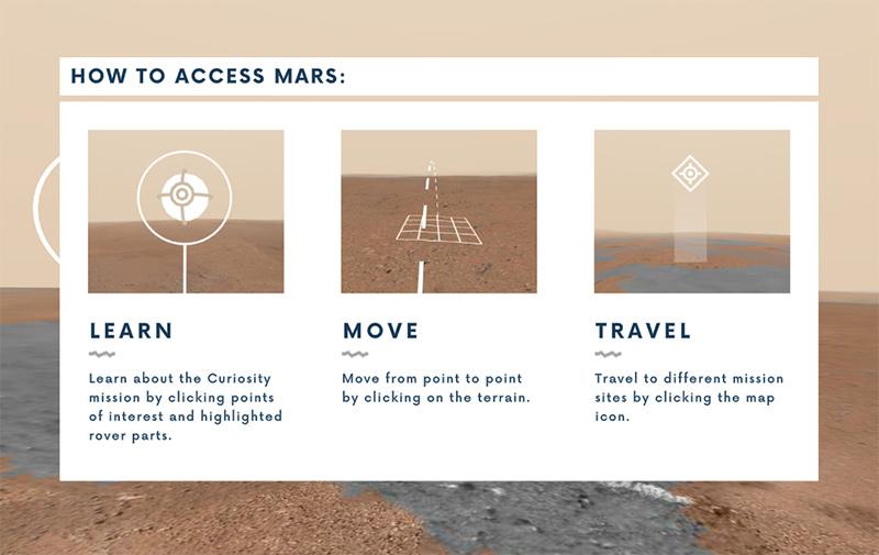 Google nasa access mars ii