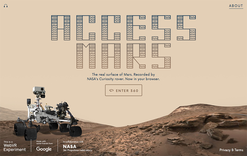 Google nasa access mars