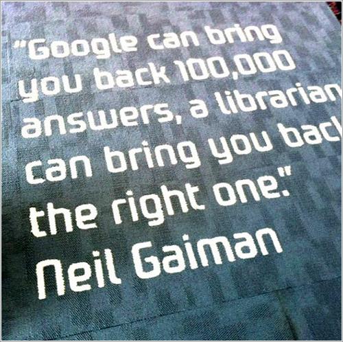 Google y los bibliotecarios por Neil Gaiman