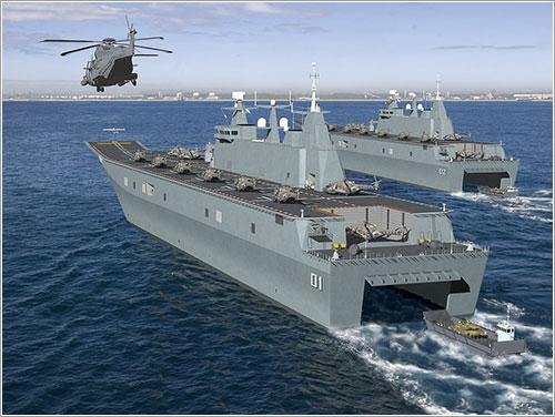 HMAS Canberra y HMAS Adelaide