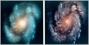 M100 antes y después de la reparación / NASA
