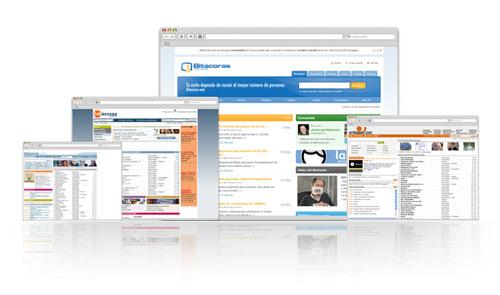 Historia visual de Bitácoras.com por Jasp