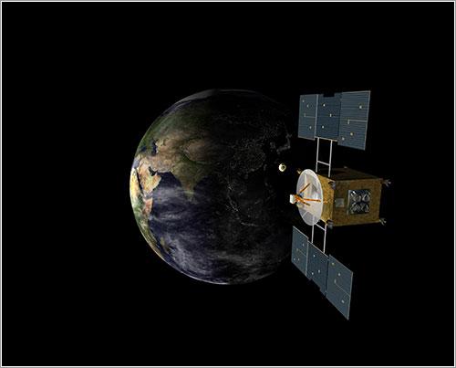 Hayabusa llegando a la Tierra - JAXA