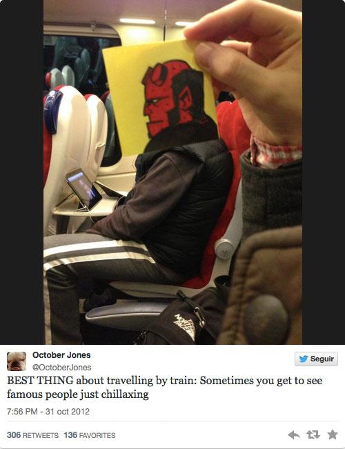 Hellboy en el tren
