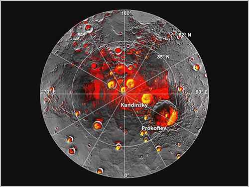 Evidencias de la presencia de hielo en Mercurio -